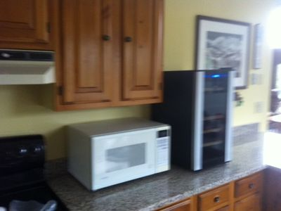 Microwave & Wine fridge