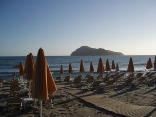 Platanias villa photo - Platania's Sandy Beach three minutes walk from the villa