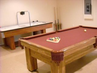 Westbury house photo - Game room with pool table and air hockey