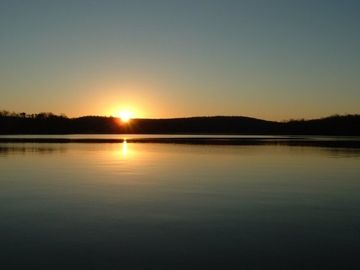 High Rock Lake house rental - Sunrise from the Dock