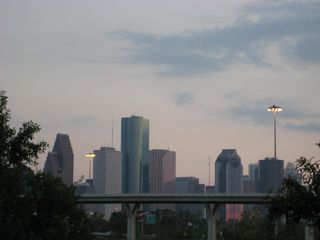view of downtown area from condo balcany - Houston condo vacation rental photo