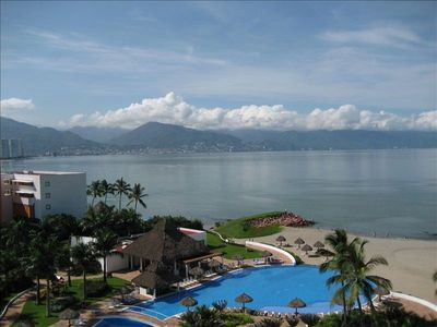 View of downtown Vallarta from the balcony