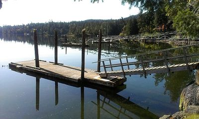 A gorgeous morning with a view of the private dock.