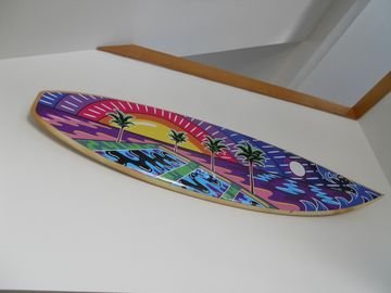 Surfboard artwork by Chuck Trunks
