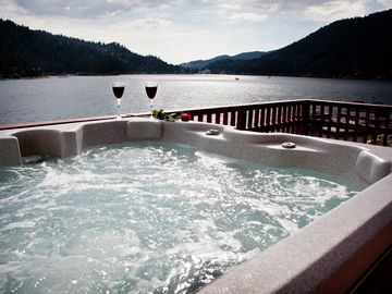 Big Bear Lake cabin rental - VIEW FROM HOT TUB