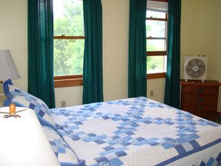 Middletown Springs house photo - Upstairs queen bedroom
