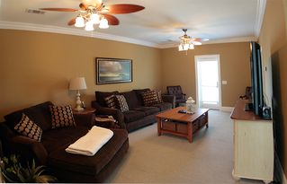 Thomas Drive Area house photo - 3rd flr game rm w/ conv queen sofa and twin chair beds, lg screen TV & 1/2 bath