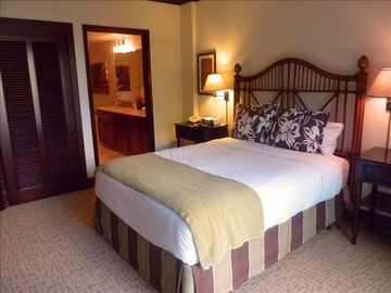 Queen Master Bedroom with Luxury linens and Triple Sheeting