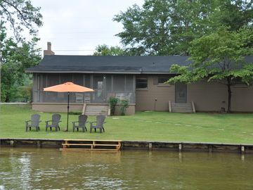 Lake Martin cottage rental - Water side with steps going into the water