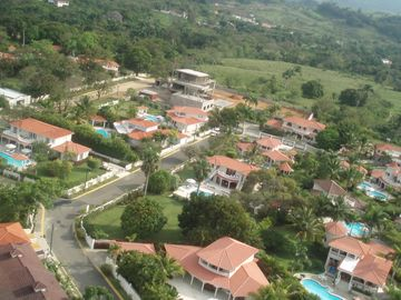 Helicopter view of some 100 + Villas