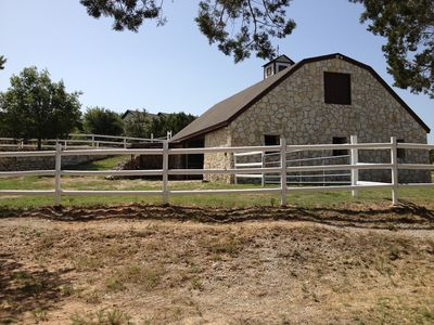 Visit our working estate Barn built by hand with native field stone.
