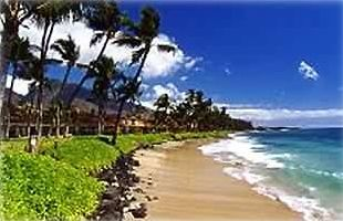 Swimming Beach 30 ft from Puamana Townhouse Lanai