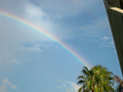 Rainbow from deck