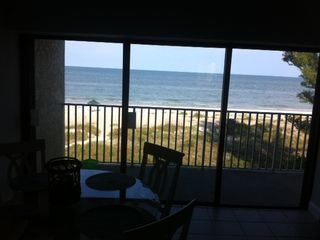 Nothing to obstruct your view! We are direct beachfront on the Gulf of Mexico! - Indian Shores condo vacation rental photo