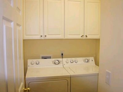 Full Size Washer and Dryer in Bluefin Bay Condo Unit