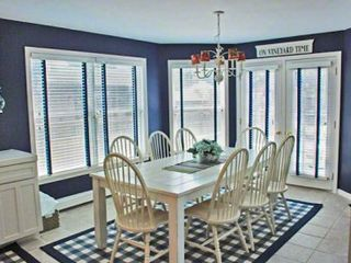 Edgartown house photo - Dining Room Seats 8 With Additional Dining Outdoors On Deck