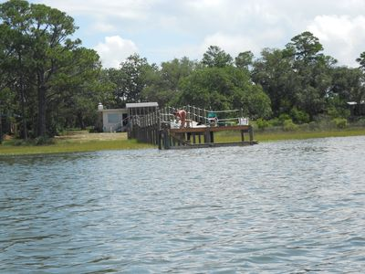 View of Dock and Cottage from Water