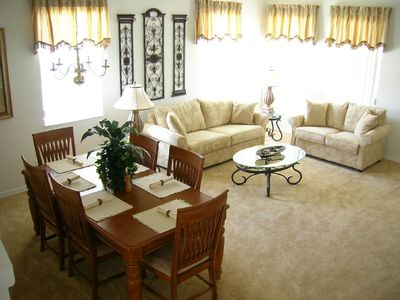 Legacy Park villa rental - Lounge and Dining Room