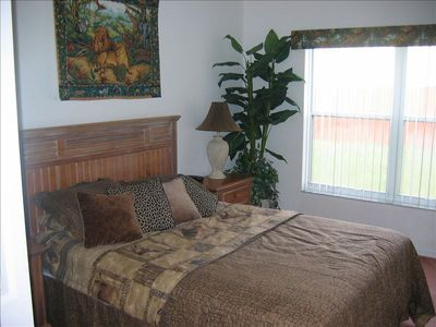 Jungle themed 2nd master bedroom, with TV and DVR,private en- suite bathroom,