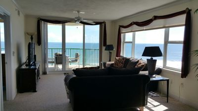 "Oceanfront Living Room with 50"" Flat Screen TV"