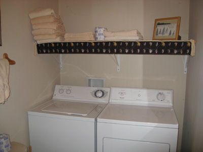 Nature's Dream has a FULL-sized washer and dryer for our guest's convenience