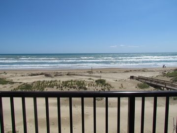 South Padre Island condo rental - Beautiful view of the ocean from our balcony