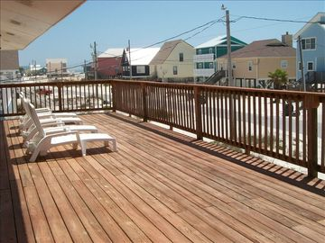Front deck looking east, 100 ft. to beach