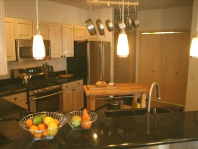 Spacious kitchen with all new stainless steel appliances!