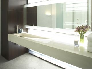 San Francisco estate photo - Master Bathroom concrete floating sink