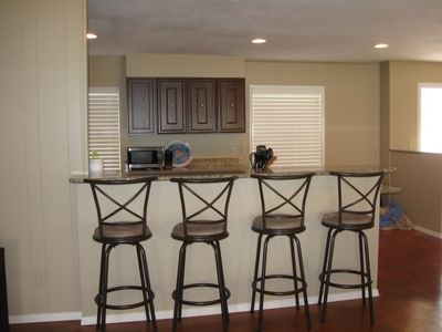 Breakfast Bar with granite countertop