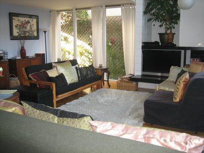 Chill out in the Zen open Living area with 42' Flat Screen TV