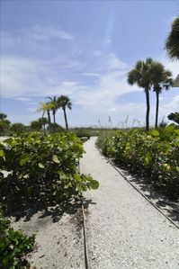 During your short walk to the beach, you will be greeted by the Florida sunshine