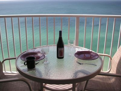 Enjoy dining on the patio with a view that is unsurpassed in Panama City