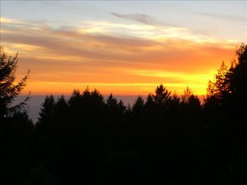 Bonny Doon chateau / country house rental - Enjoy your summer/fall sunset from almost every room