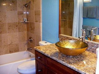 Princeville condo photo - Luxury bath, marble shower,granite counter