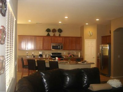 Open Living RM & Kitchen area - great open floor plan w private bedroom areas!