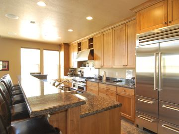 Park City townhome rental - Open Kitchen w/ 13' Breakfast Bar; Wolfe & Sub-zero Appliances; & Stocked Pantry
