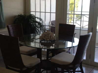 Luquillo condo rental - Dining Table w/ Ocean View