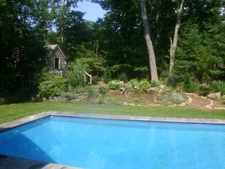 East Hampton house photo - Pool and Garden