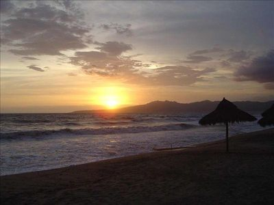 Fabulous sunsets from our beach...