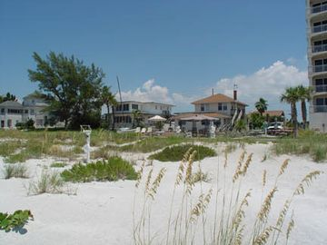 The beach on this part of the island natural with dunes and sea oats