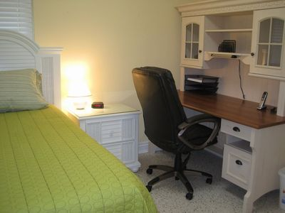 3rd Bedroom with Twin Size Bed and Desk