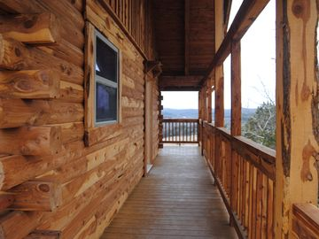 Holiday Island cabin rental - Privacy and Luxury on a bluff 450 feet above White RIver and Inspiration Valley