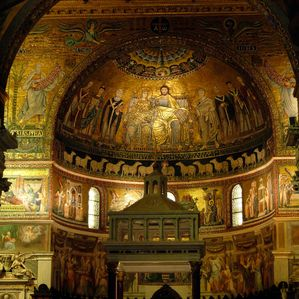 Inside of Santa Maria in Trastevere Basilic
