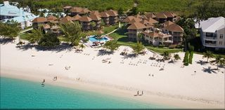 Grand Cayman condo photo - Aerial view of Plantana on the best part of Seven Mile Beach