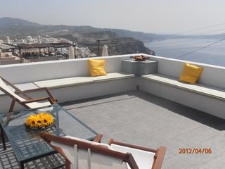 Thira (Fira) villa photo - 2nd bedroom's 30 sm private balcony.