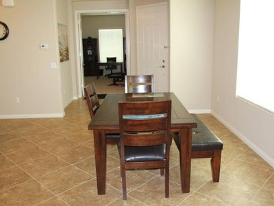 Dining nook off great room and kitchen, large window for plenty of natural light