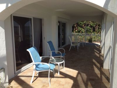 Vacation Homes in Marco Island house rental - Lanai outside downstairs bedrooms