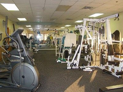 Fitness center. They also have a free weights room not seen in this shot.