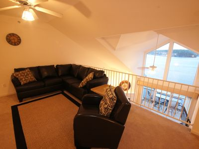 Osage Beach condo rental - The Loft Living Area offers a TV w/ DVD and comfortable seating for lounging